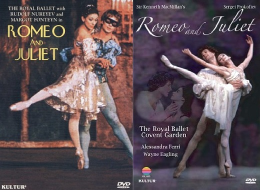 Deux versions filmées de Romeo and Juliet de Kenneth MacMillan : de 1966 et de 1984