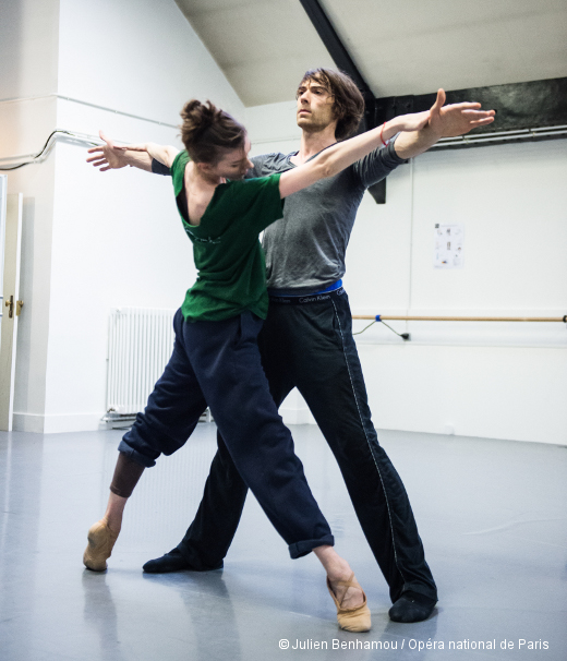 Laura Hecquet (avec Hervé Moreau, qui finalement ne danse pas) - Répétition d'Alea Sands de Wayne McGregor