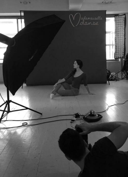 Shooting photos d'Amandine Albisson pour Mademoiselle Danse