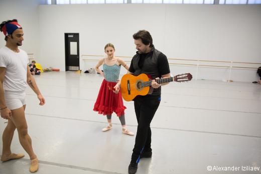 Angel Corella avec Arian Molina Soca et Oksana Maslova.