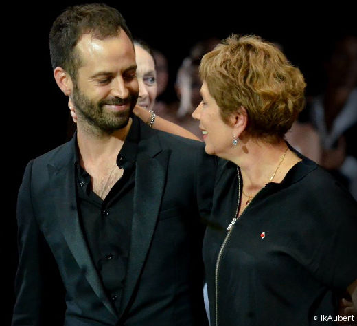 Benjamin Millepied et Brigitte Lefèvre lors des saluts