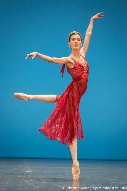 Laura Hecquet lors du Concours de promotion 2014, où elle a été promue Première danseuse