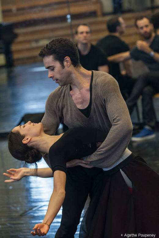 Amandine Albisson et Mathias Heymann - Répétition de Daphnis et Chloé