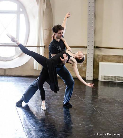 Mathieu Ganio et Laetitia Pujol - Répétition de Daphnis et Chloé