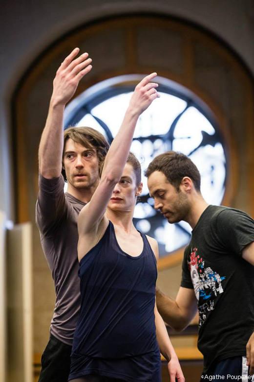 Répétition de Daphnis et Chloé - Hervé Moreau, Aurélie Dupont et Benjamin Millepied