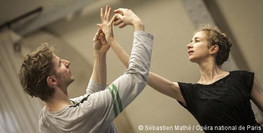 Duo concertant de George Balanchine - Karl Paquette et Myriam Ould-Braham en répétition