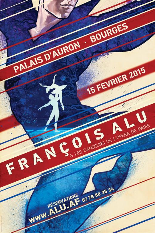 L'affiche du spectacle de François Alu à Bourges