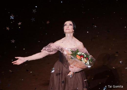 Isabelle Ciaravola sur scène lors de ses adieux