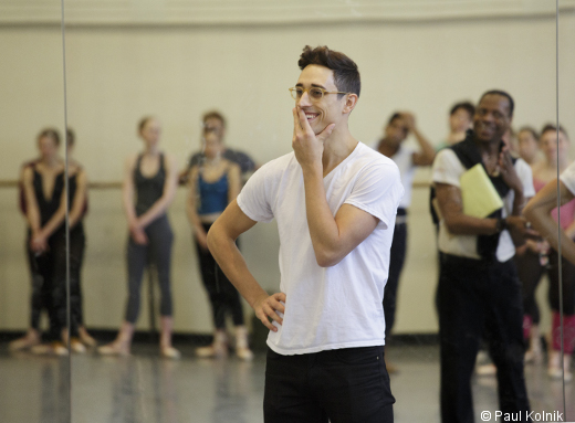 Justin Peck en répétition- New york City Ballet