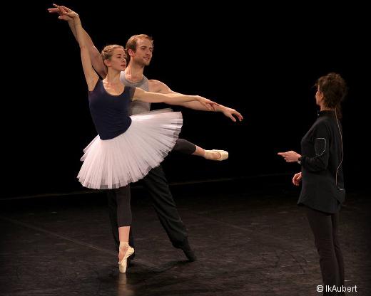 La Bayadère - Myriam Ould-Braham et François Alu en répétition avec Florence Clerc