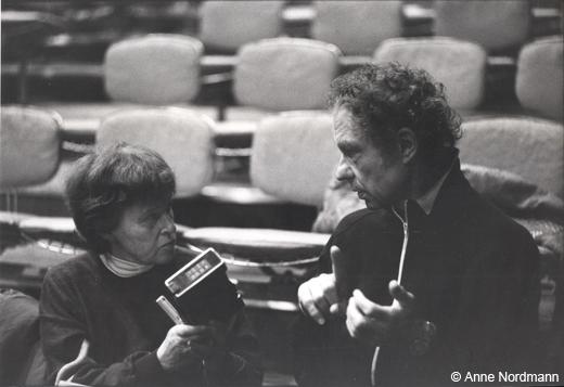 Lise Brunel et Merce Cunningham