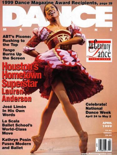 Lauren Anderson en Une de Dance Magazine