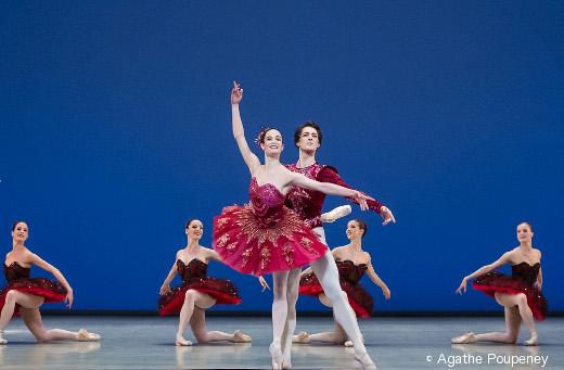 Amnadine Albisson (ici avec Mathieu Ganio) - Le Palais de Cristal