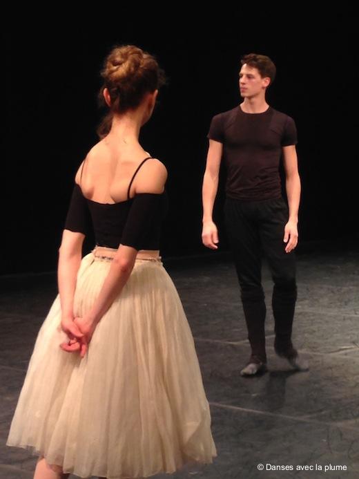 Myriam Ould Braham et Germain Louvet, répétition de Paquita