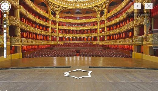 Le Palais Garnier sur Google StreetView