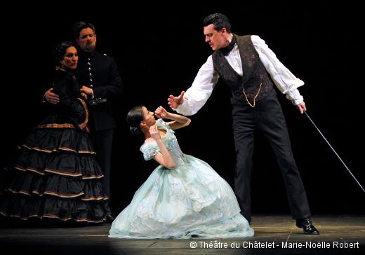 Répétition de Passion - Charlotte Arnould (Fosca jeune fille) et Damian Thantrey (Count Ludovic)