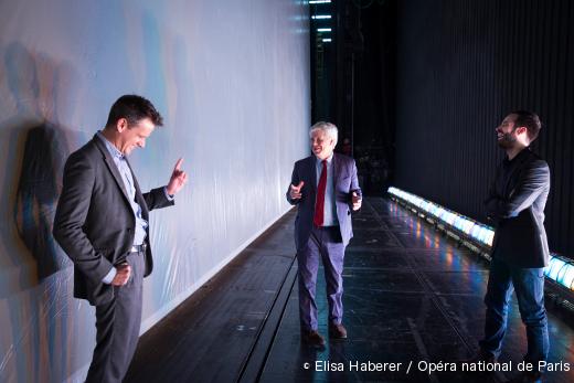 La direction de l'Opéra de Paris : Philippe Jordan, Stéphane Lissner et Benjamin Millepied