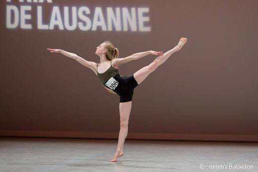 Lou Spichtig en répétition de sa variation contemporaine - Prix de Lausanne