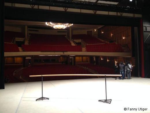 La scène du Théâtre de Baulieu une fois le Prix terminé