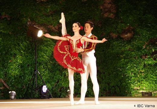 Sara Renda et son partenaire Austin Byron au Prix de Varna