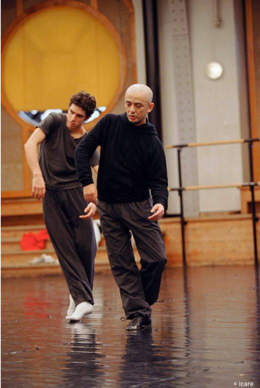 Jérémie Bélingard et Saburo Teshigawara en répétition lors d'une précédente création.