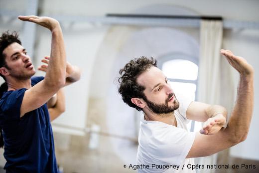 Jérémie Bélingard et Pierre Rigal en répétition pour Salut