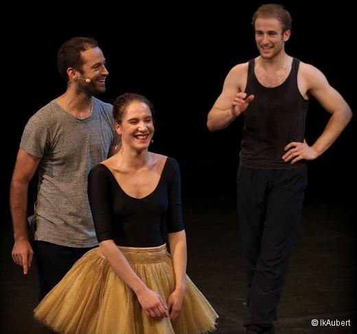 Répétition de Thème et variations de George Balanchine - Benjamin Millepied, Valentine Colasante et François Alu
