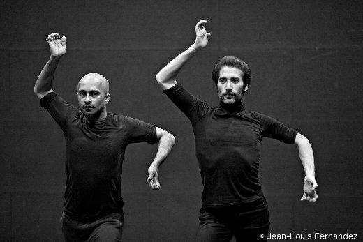 Akram Khan et Isal Galvan en répétition de Torobaka