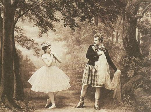 La Sylphide en 1880 avec Anna Scholl et Hans Beck