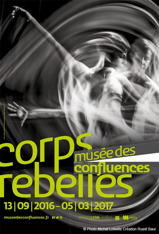 Affiche de l'exposition corps rebelles