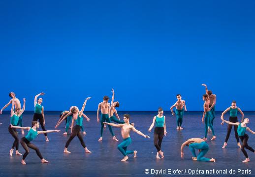 Démonstrations 2015 de l'École de Danse de l'Opéra de Paris - Les secondes divisions filles et garçons, danse contemporaine