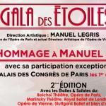 Le Gala des Étoiles à Paris et en tournée – Hommage à Manuel Legris – 1er et 2 mars 2014