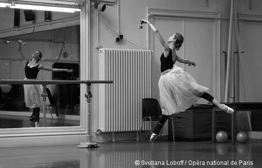 Giselle en répétition - Myriam Ould-Braham
