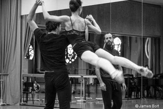Répétition de La Nuit s'achève de Benjamin Millepied avec Hervé Moreau et Amandine Albisson