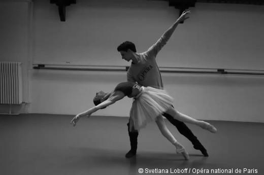 Le Lac des cygnes, Ludmila Pagliero et Germain Louvet en répétition