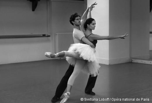 Le Lac des cygnes - Mathieu Ganio et Amandine Albisson en répétition
