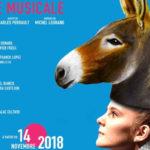 Marie-Agnès Gillot et Michaël Denard dans la comédie musicale Peau d'Âne au Théâtre Marigny